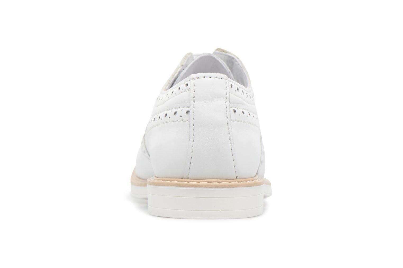 Chaussures à lacets Melania Palma Blanc vue droite