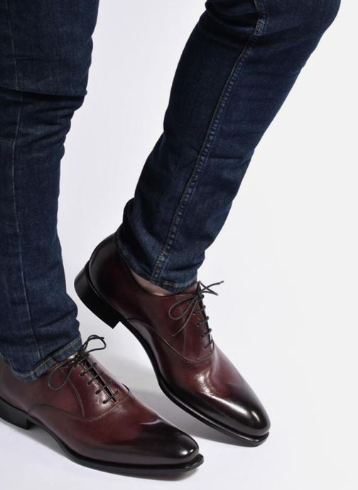 Lace-up shoes Marvin&Co Luxe Dagenham - Cousu Blake Burgundy view from underneath / model view