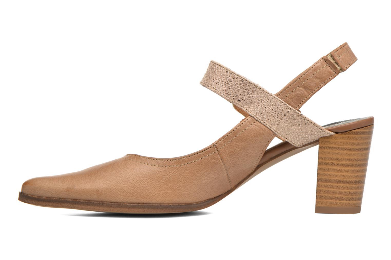 Zapatos de tacón Karston Kzoupi Beige vista de frente