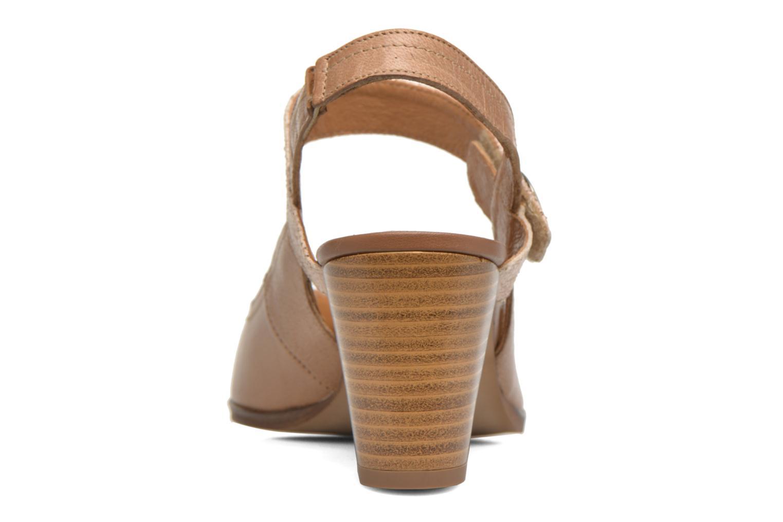 Zapatos de tacón Karston Kzoupi Beige vista lateral derecha