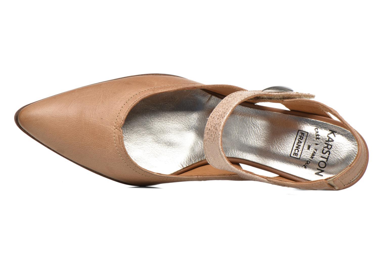 Zapatos de tacón Karston Kzoupi Beige vista lateral izquierda