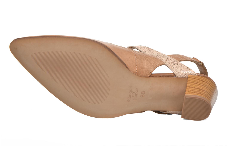 Zapatos de tacón Karston Kzoupi Beige vista de arriba