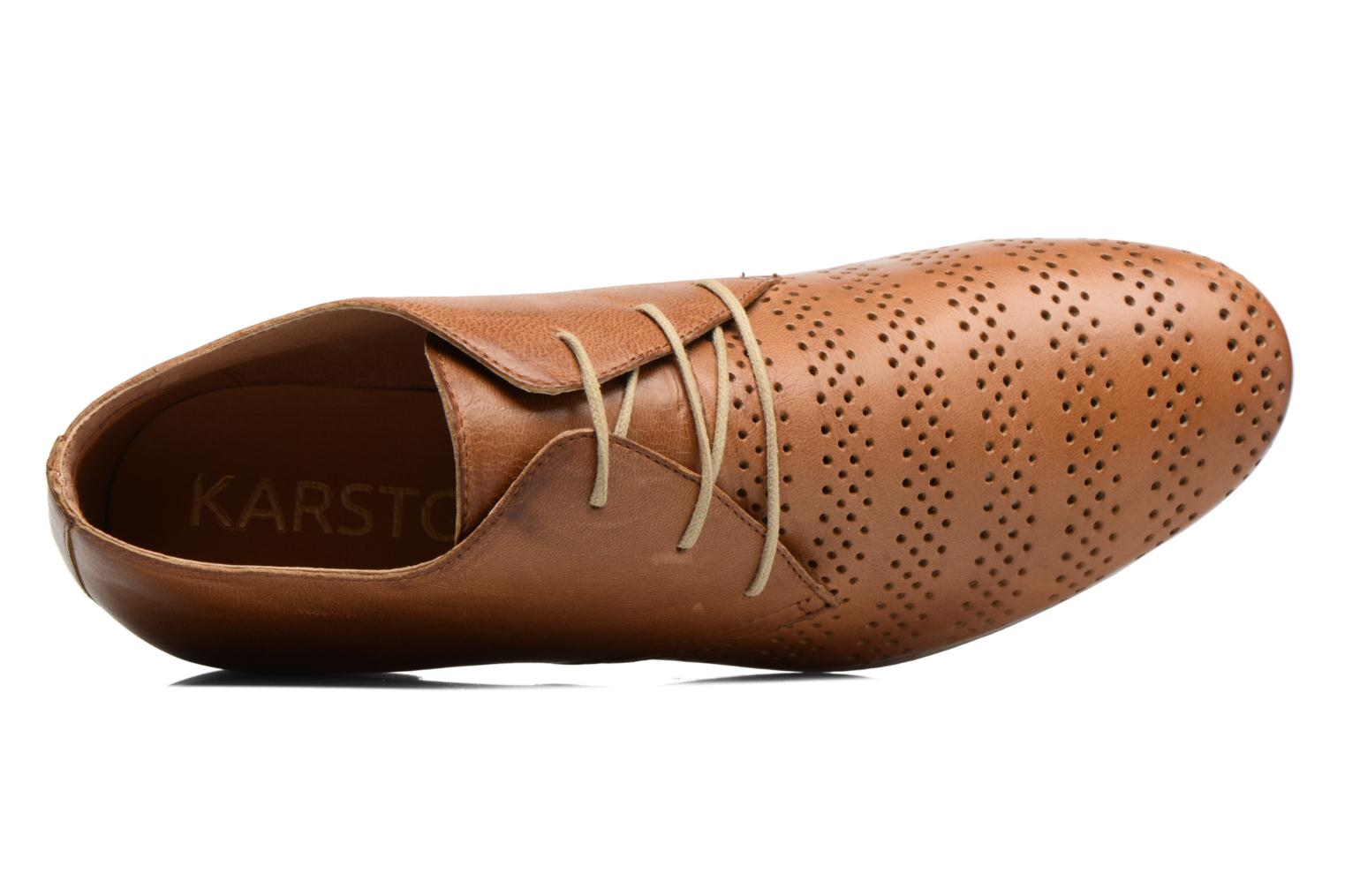 Lace-up shoes Karston Jorzi Brown view from the left