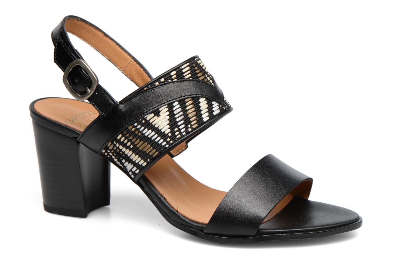 Sandals Karston Pogo Black detailed view/ Pair view