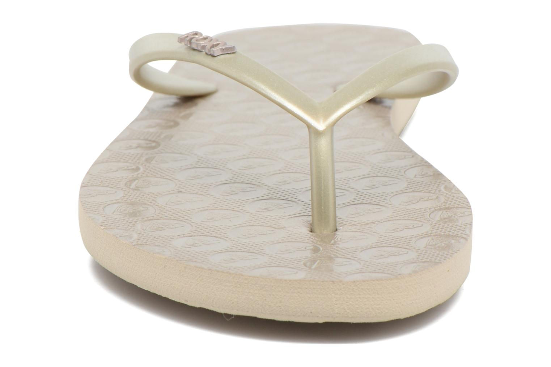 Tongs Roxy Viva III Or et bronze vue portées chaussures