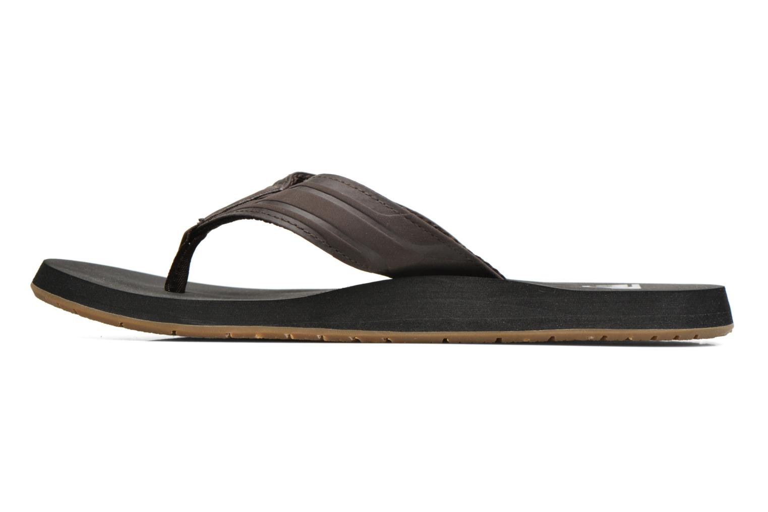 Flip flops Quiksilver Monkey Wrench Brown front view