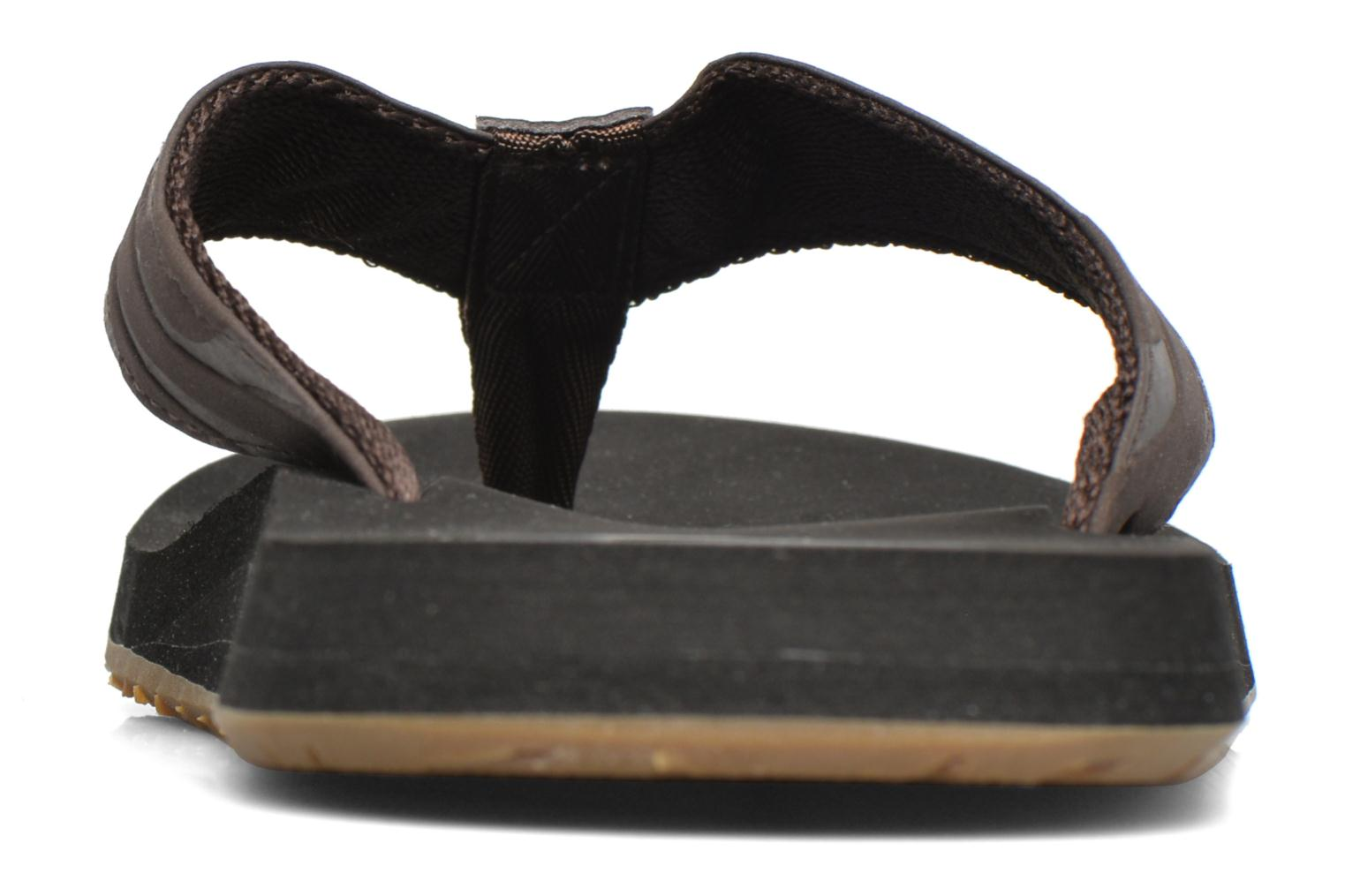 Flip flops Quiksilver Monkey Wrench Brown view from the right