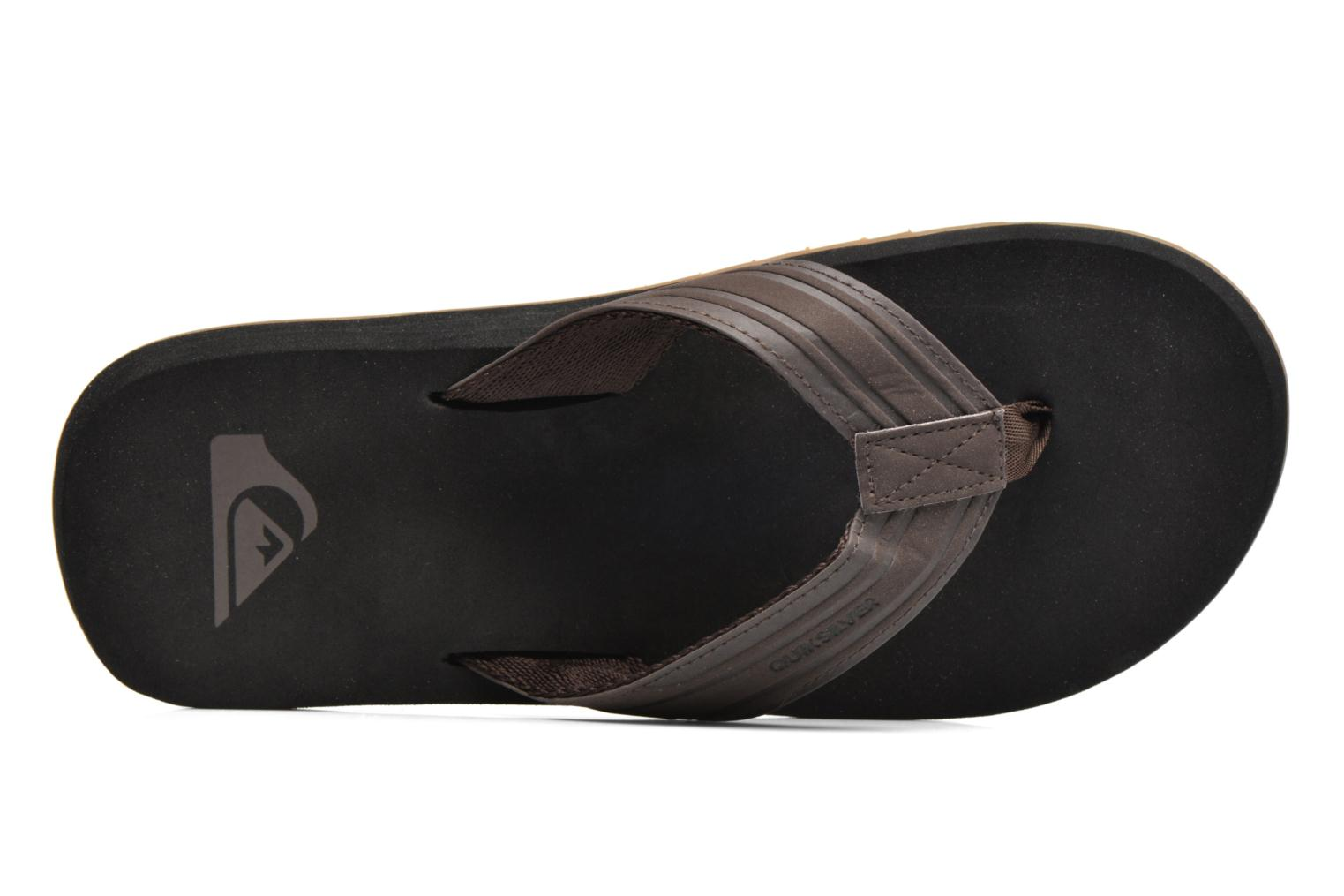 Flip flops Quiksilver Monkey Wrench Brown view from the left