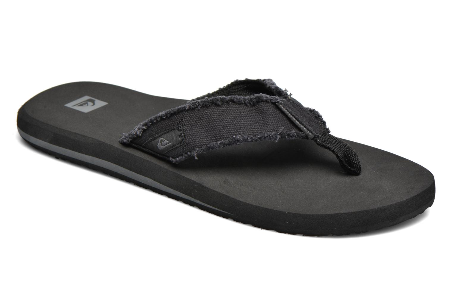 Flip flops Quiksilver Monkey Abyss M Black detailed view/ Pair view