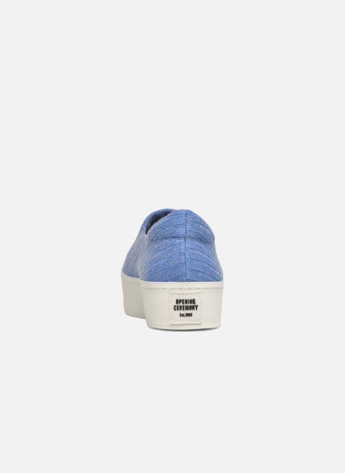 Baskets Opening Ceremony Cici Ribbed Bleu vue droite