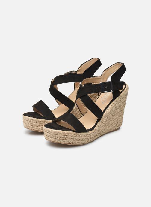 Sandalen I Love Shoes MCJASON schwarz ansicht von unten / tasche getragen
