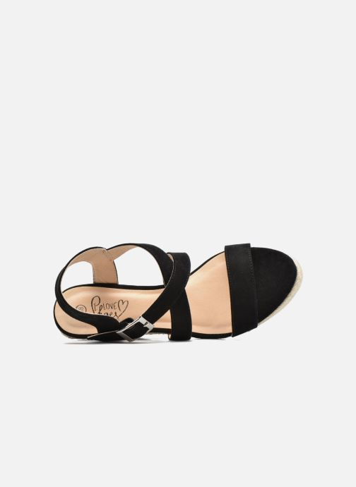Sandalias I Love Shoes MCJASON Negro vista lateral izquierda