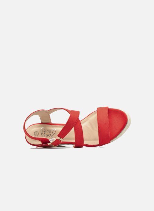 Sandalen I Love Shoes MCJASON rot ansicht von links
