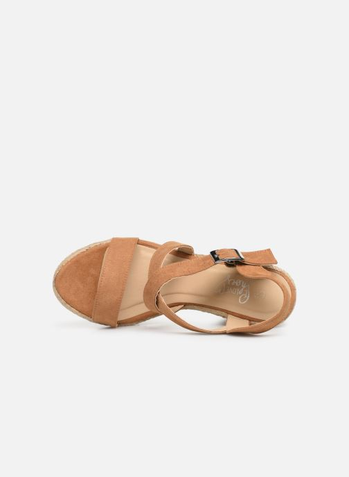 Sandals I Love Shoes MCJASON Brown view from the left