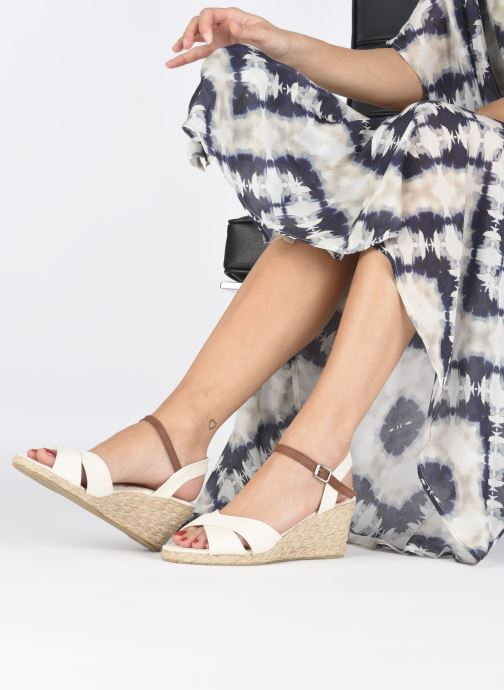 Sandales et nu-pieds I Love Shoes MCEMIMI Blanc vue bas / vue portée sac