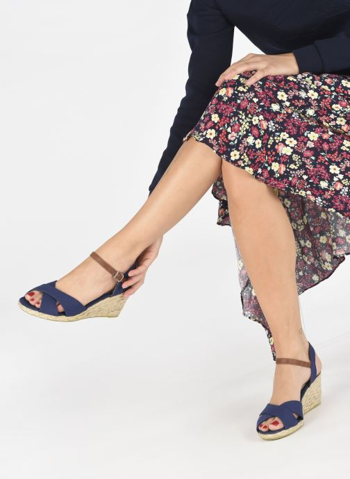 Sandales et nu-pieds I Love Shoes MCEMIMI Bleu vue bas / vue portée sac