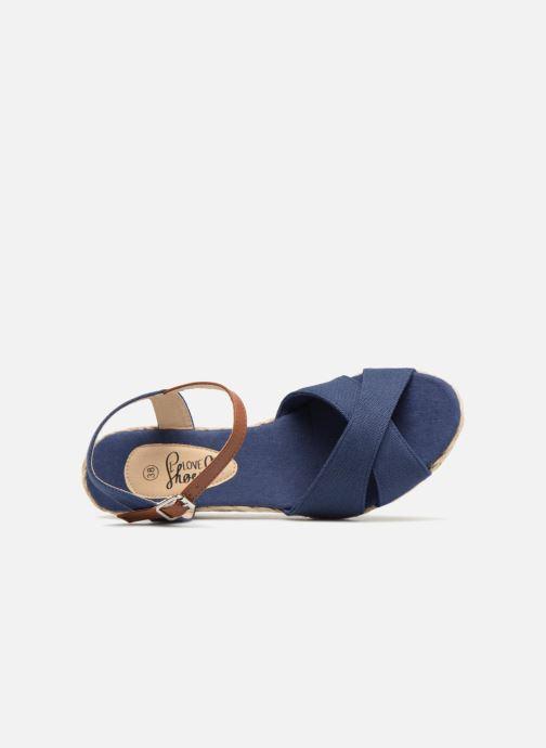 Sandales et nu-pieds I Love Shoes MCEMIMI Bleu vue gauche
