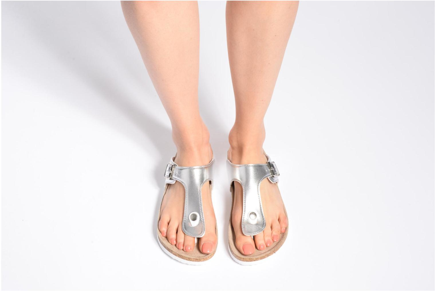 Sandals I Love Shoes MCOLOS Silver view from underneath / model view