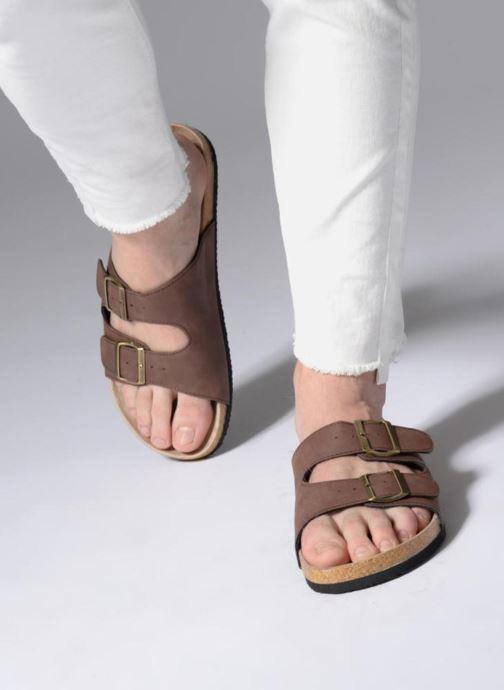 Sandalen I Love Shoes MCerdu braun ansicht von unten / tasche getragen
