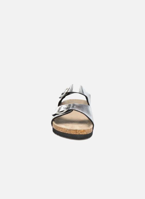 Sandalen I Love Shoes MCGEE silber schuhe getragen