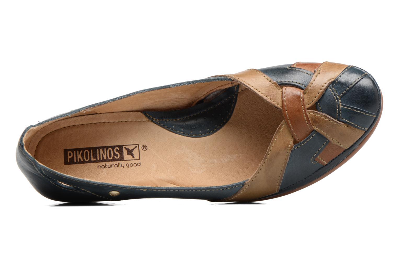 Zapatos de tacón Pikolinos Coimbra W7L-5691 Azul vista lateral izquierda