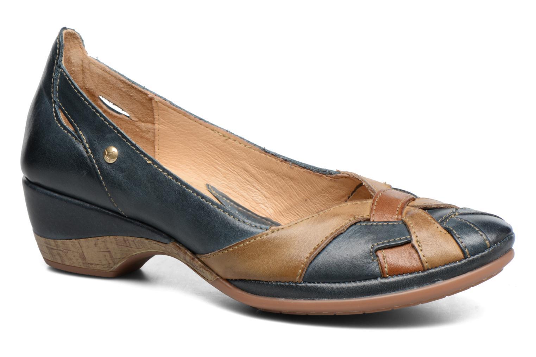 Zapatos de tacón Pikolinos Coimbra W7L-5691 Azul vista de detalle / par