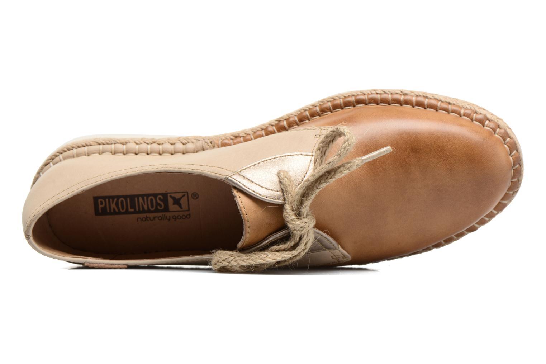 Zapatos con cordones Pikolinos Cadamunt W3K-4604 Marrón vista lateral izquierda
