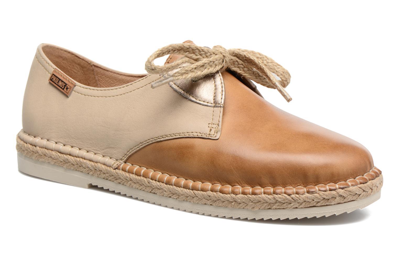 Zapatos con cordones Pikolinos Cadamunt W3K-4604 Marrón vista de detalle / par