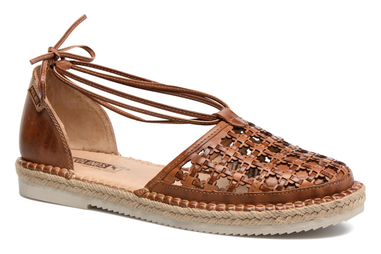 Zapatos con cordones Pikolinos Cadamunt W3K-3631 Marrón vista de detalle / par