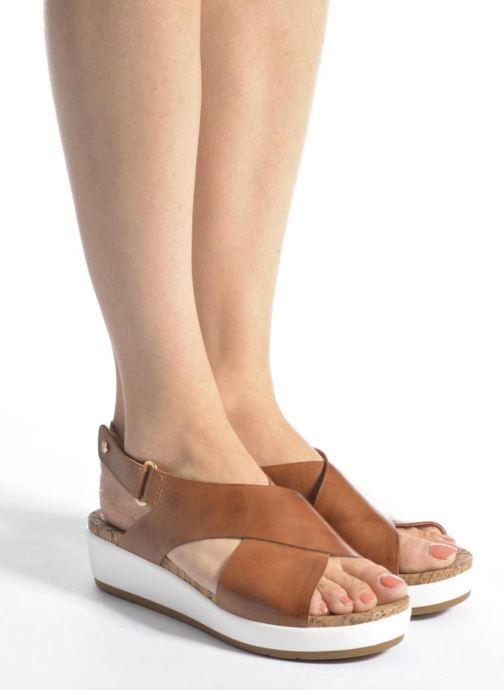 Sandales et nu-pieds Pikolinos Mykonos W1G-0757C2 Marron vue bas / vue portée sac