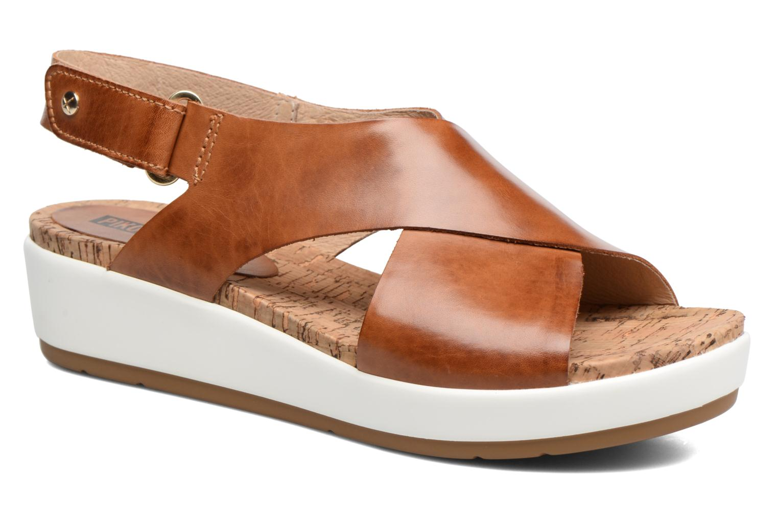 Sandals Pikolinos Mykonos W1G-0757 Brown detailed view/ Pair view