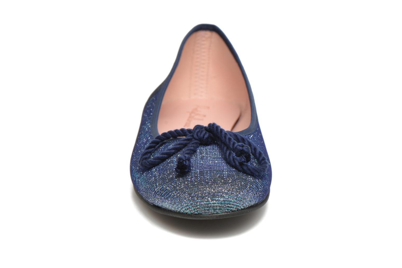 Ballerinas Pretty Ballerinas Rosario Glitter blau schuhe getragen