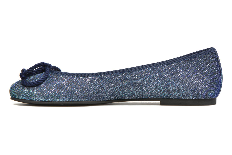 Ballerinas Pretty Ballerinas Rosario Glitter blau ansicht von vorne