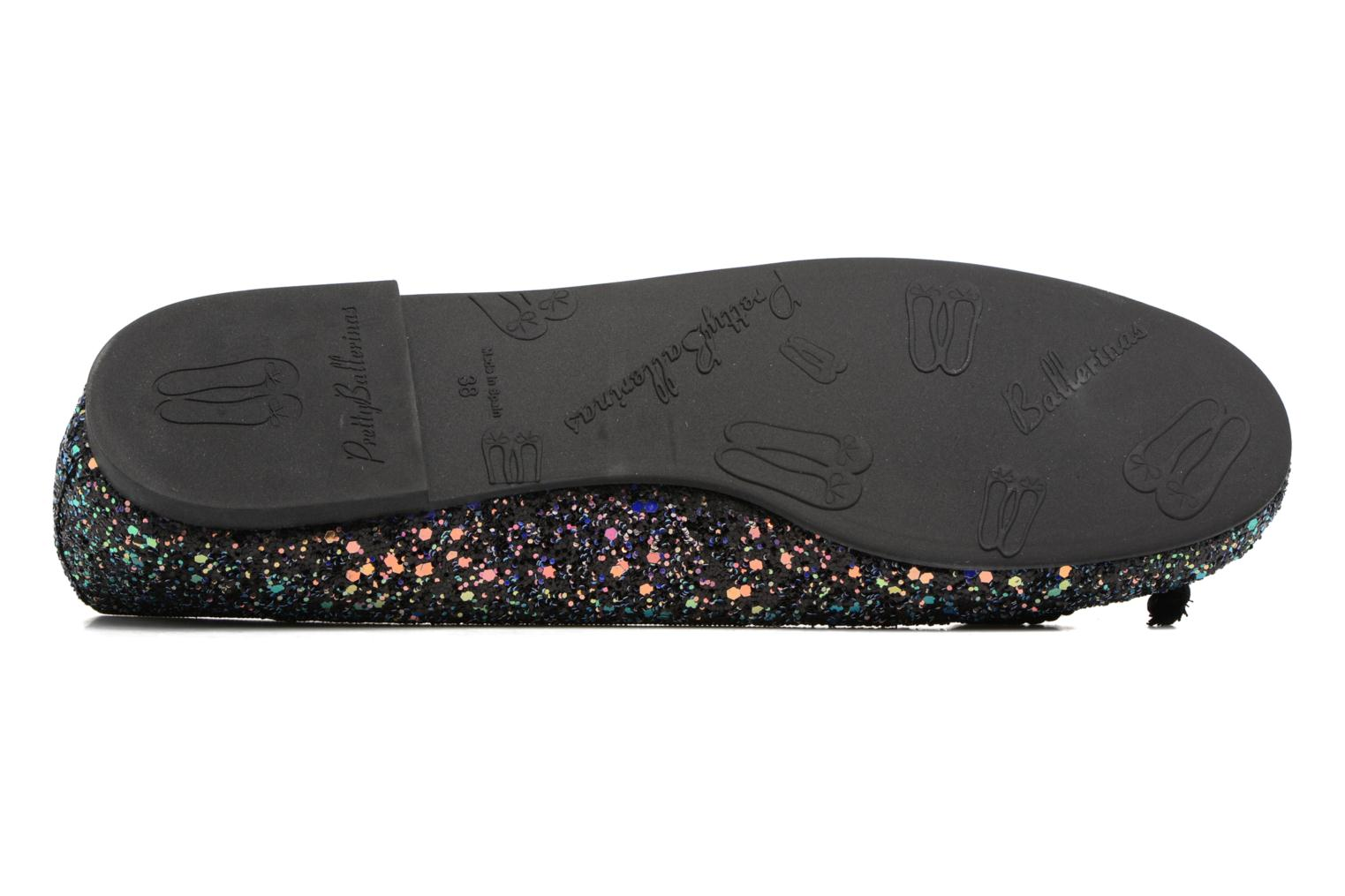 Ballet pumps Pretty Ballerinas Rosario Glitter Black view from above