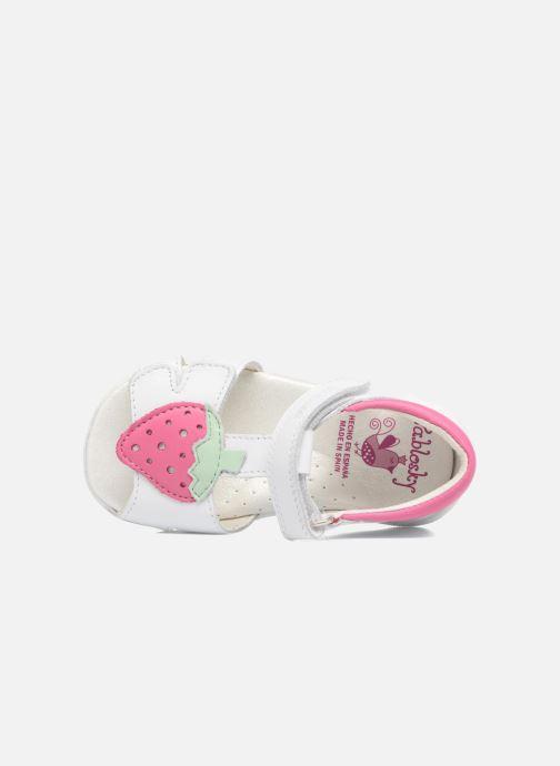 Sandales et nu-pieds Pablosky Fresa Blanc vue gauche