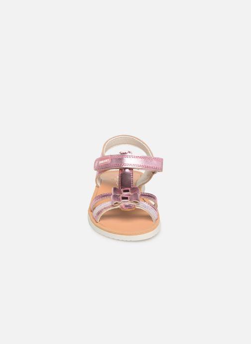 Sandales et nu-pieds Pablosky Betty Argent vue portées chaussures