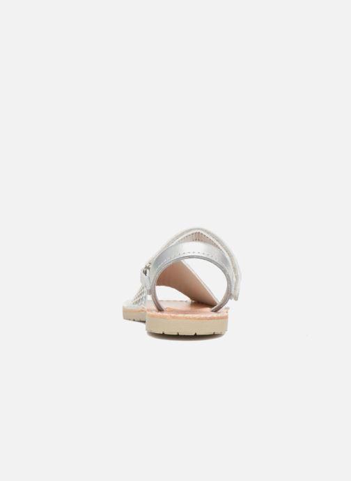 Sandales et nu-pieds Pablosky Clarisa Argent vue droite