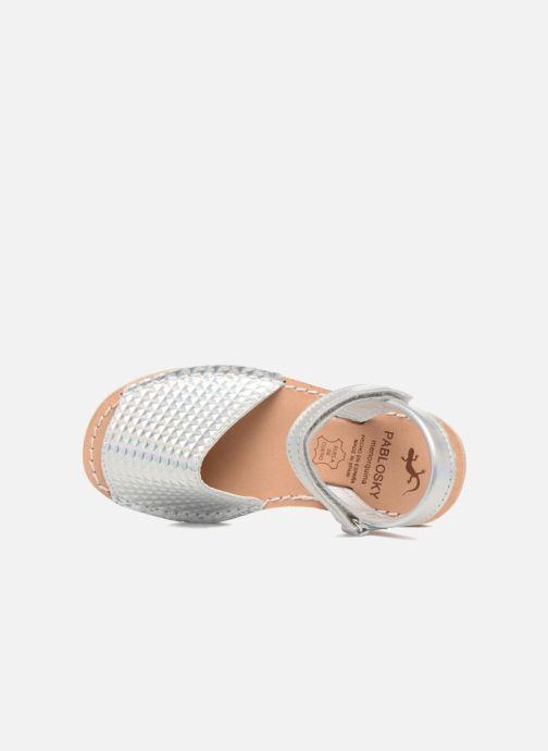 Sandales et nu-pieds Pablosky Clarisa Argent vue gauche