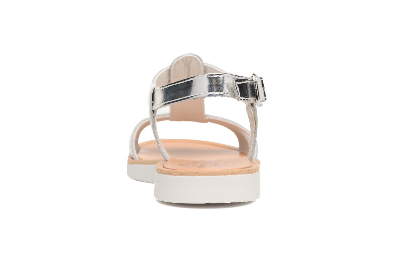 Sandales et nu-pieds Pablosky Eda Argent vue droite
