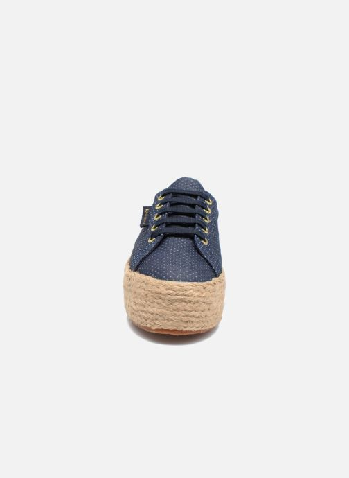 Alpargatas Superga 2790 Fabric Shirttrope W Azul vista del modelo