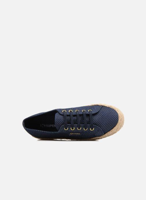 Scarpe di corda Superga 2790 Fabric Shirttrope W Azzurro immagine sinistra