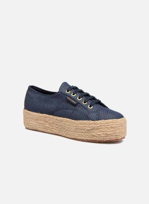 Espadrillos Superga 2790 Fabric Shirttrope W Blå detaljeret billede af skoene