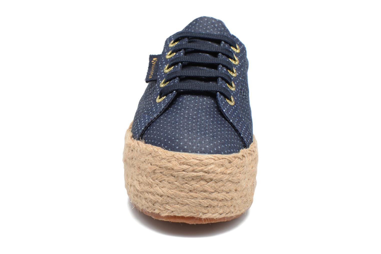 Espadrilles Superga 2790 Fabric Shirttrope W Bleu vue portées chaussures