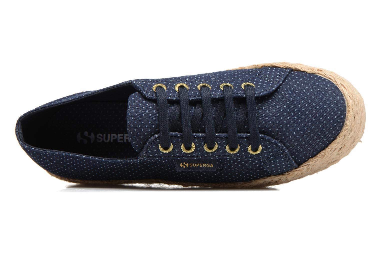 Espadrilles Superga 2790 Fabric Shirttrope W Bleu vue gauche