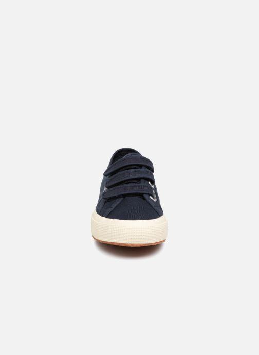 Baskets Superga 2750 Cot 3 Strapu Bleu vue portées chaussures