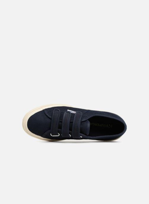 Sneakers Superga 2750 Cot 3 Strapu Blauw links