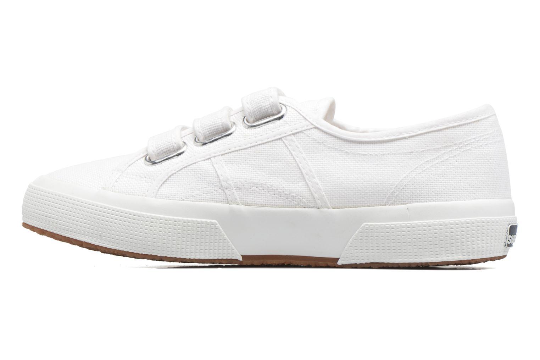 Sneakers Superga 2750 Cot 3 Strapu Wit voorkant