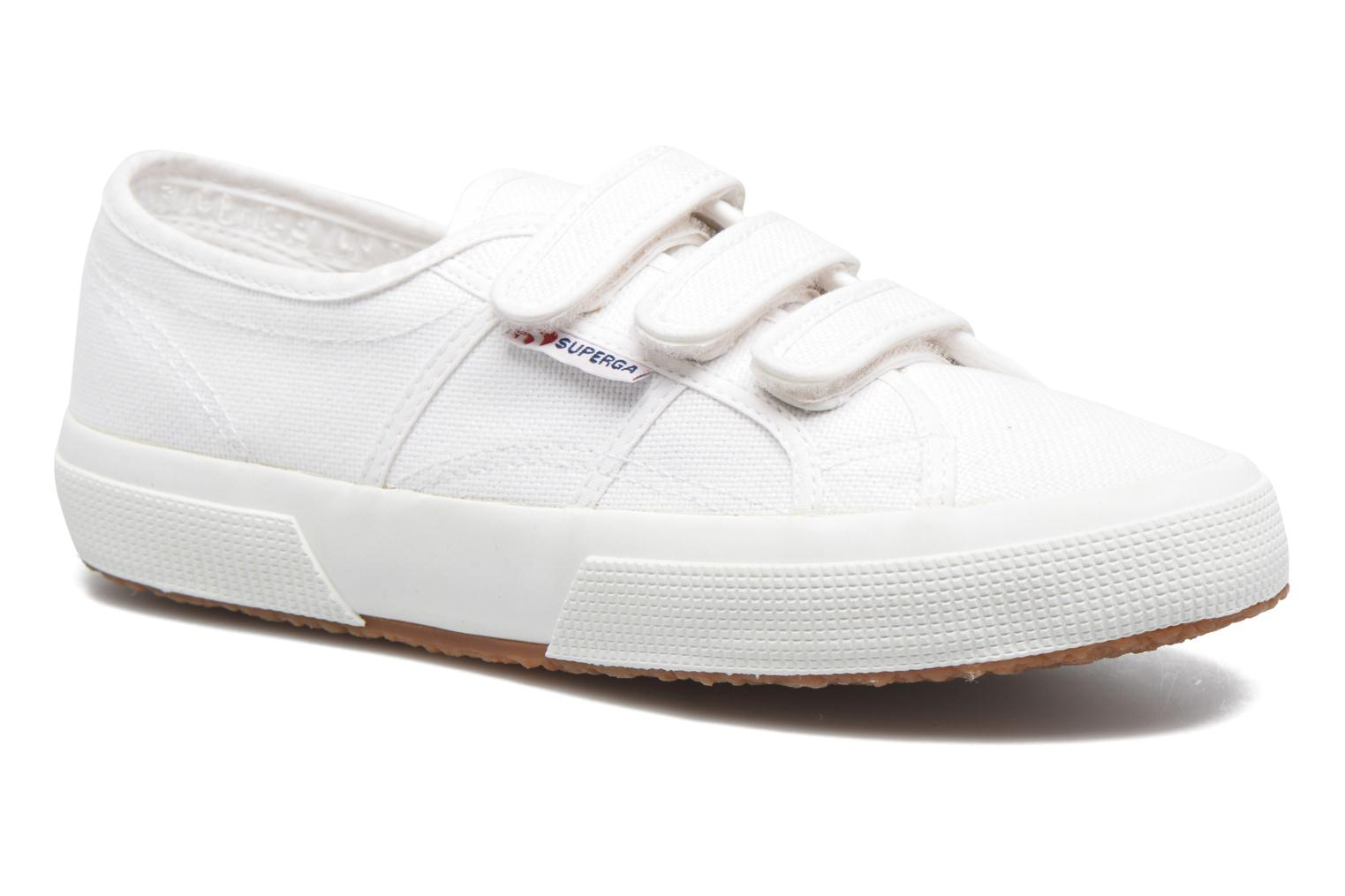 Trainers Superga 2750 Cot 3 Strapu White detailed view/ Pair view