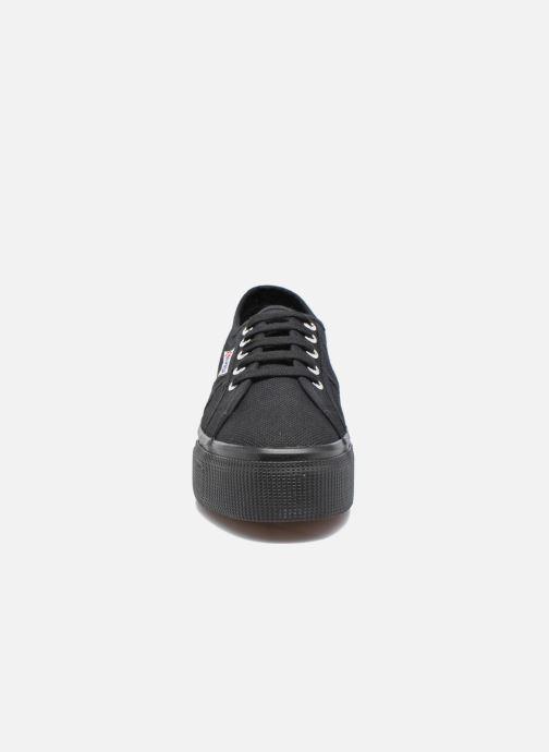 Baskets Superga 2790 Cot W Linea Noir vue portées chaussures