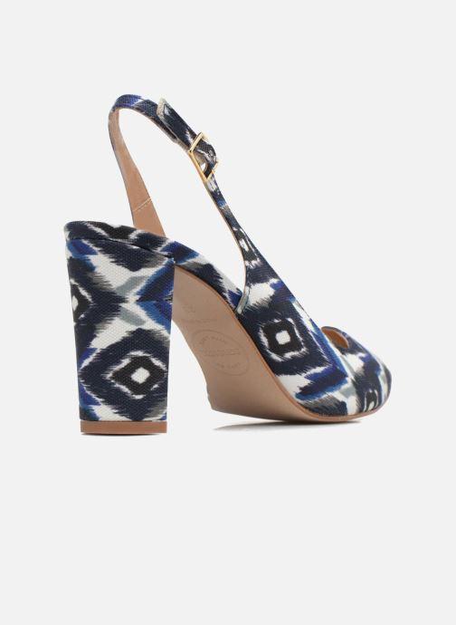 High heels Made by SARENZA 90's Girls Gang Escarpins #4 Blue front view